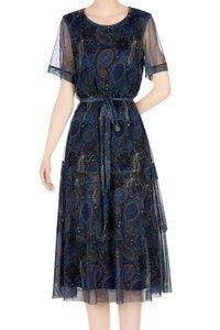 Sukienka Dorota niebieska w mazaje