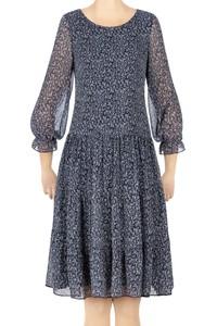 Sukienka Pola granatowa w jasne wzorki