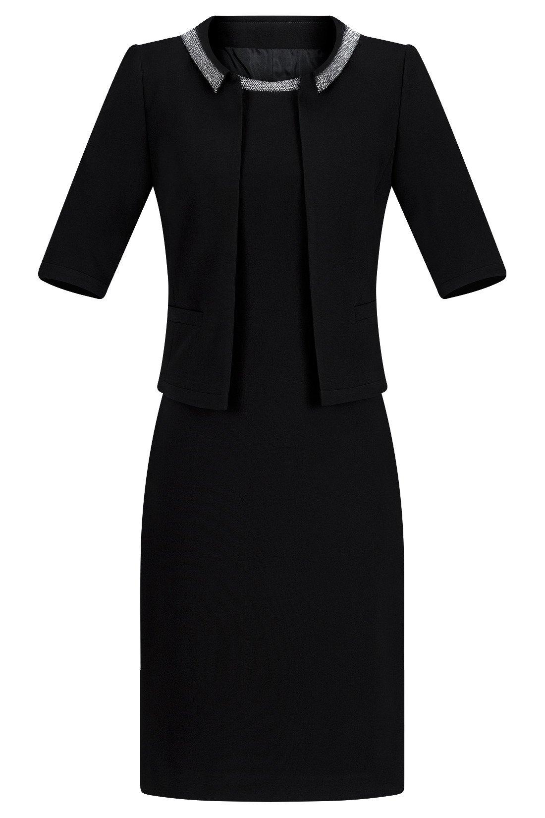 fa2ec8b074 Komplet Dagon 2052 czarny - sukienka i żakiet Kliknij