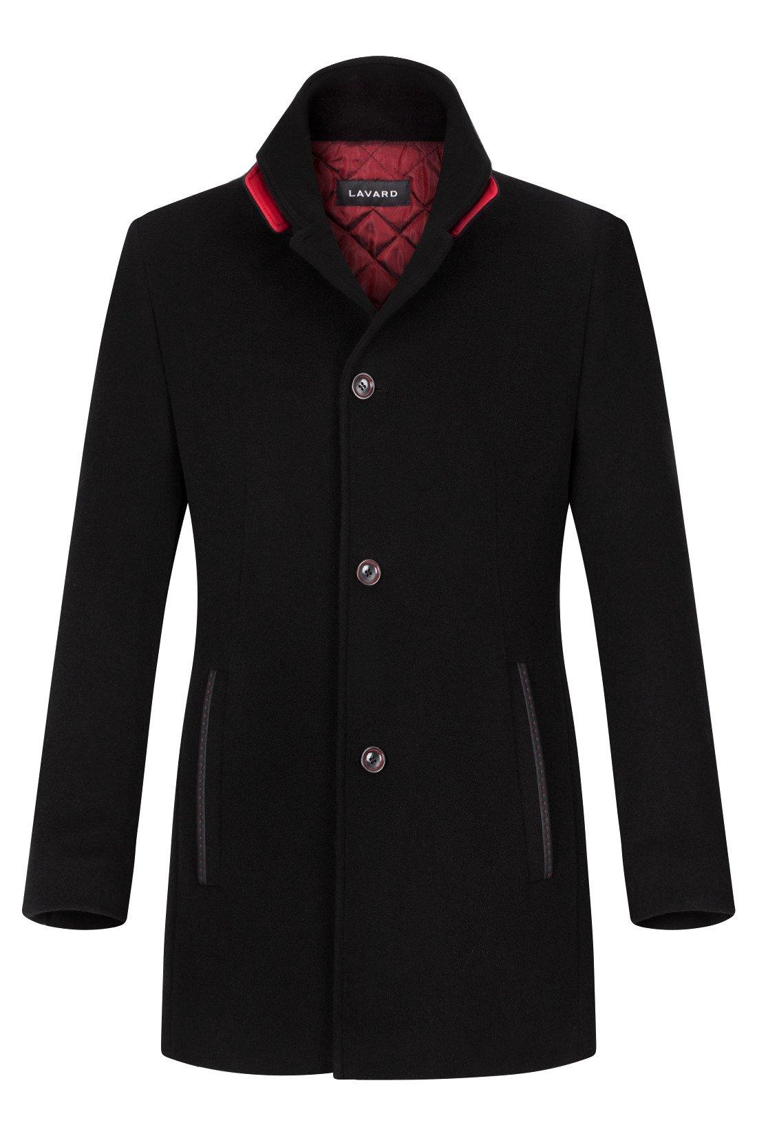 Płaszcz zimowy Lavard Rico Bellandi 26318 flauszowy czarny