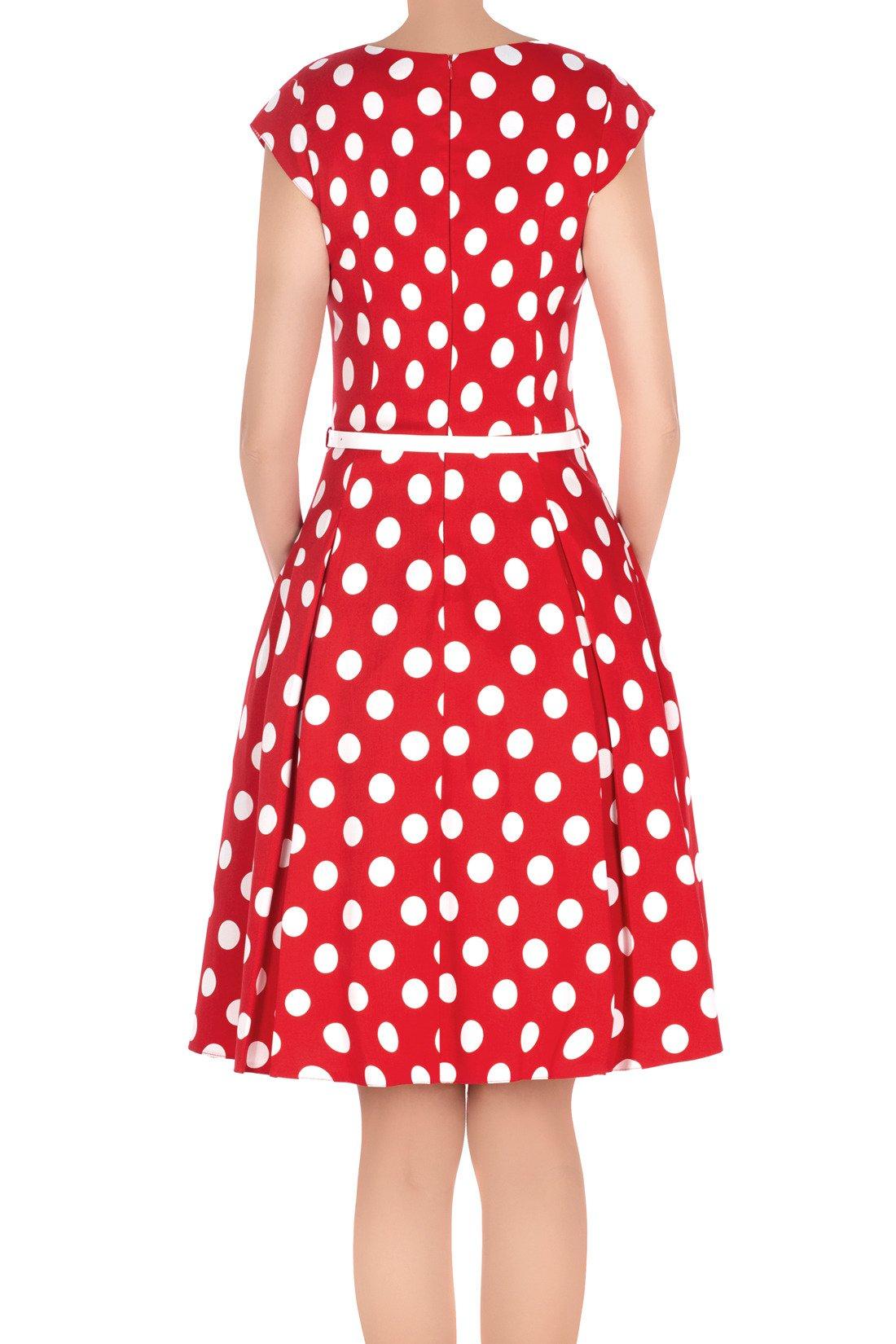 5da5785d Rozkloszowana sukienka Gotta retro czerwona w grochy 3129