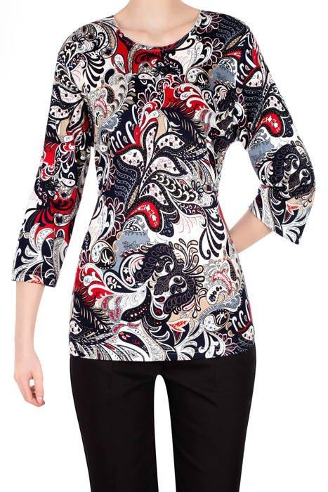 Bluzka Aga w kolorowe wzory