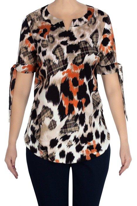 Bluzka Marguerite w kolorowe wzory