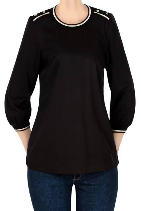 Bluzka Maria M. czarna z guzikami