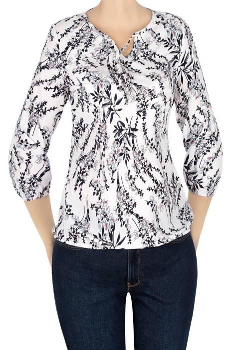 Bluzka W&M biała w kwiaty