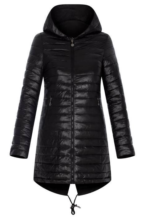 Damska czarna kurtka z kapturem