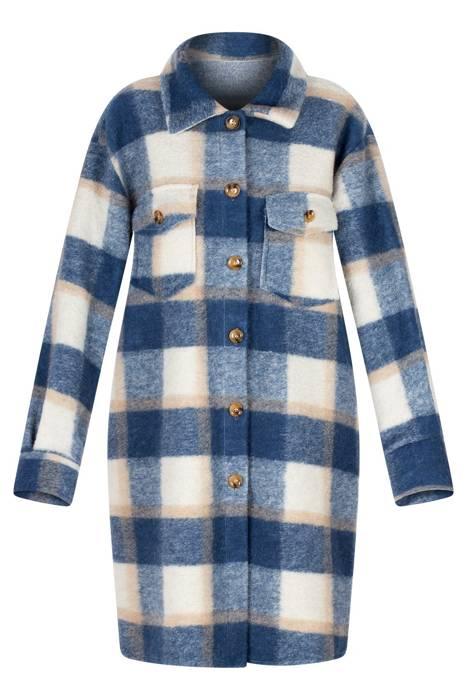Damski płaszcz/koszula w kratę