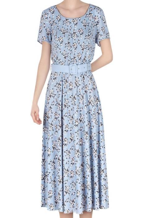 Długa sukienka Alika błękitna w kwiatki