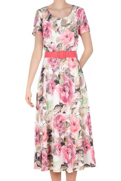 Długa sukienka Alika pastelowe kwiaty
