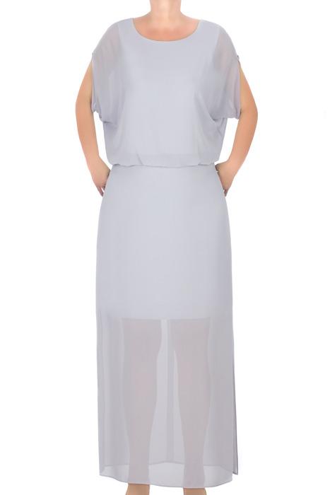 Długa suknia J.S.A. Alicja I szara tiulowa