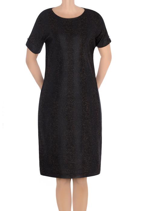 Elegancka sukienka J.S.A. Kasia czarna ze złotą nitką
