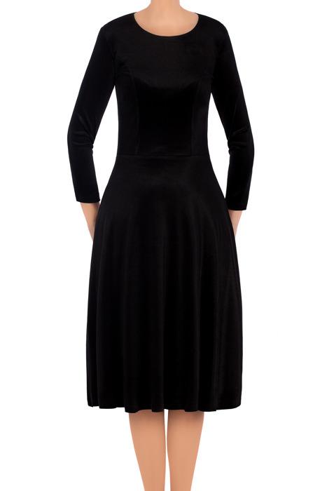 Elegancka sukienka Lotos Kuba rozkloszowana czarna