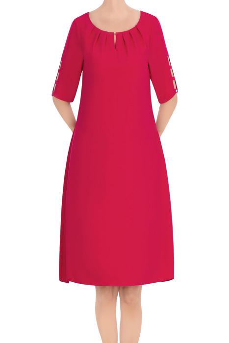 Elegancka sukienka damska fuksja 3423