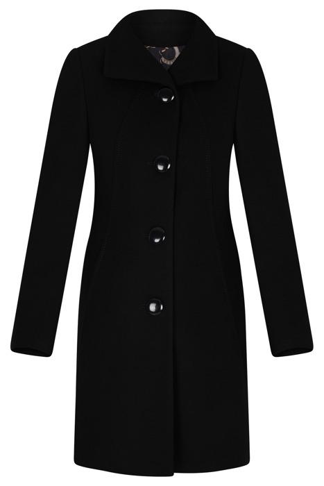 Elegancki płaszcz damski Moris Capri czarny na guziki