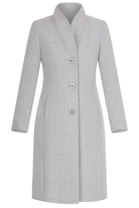 Elegancki płaszcz damski w kolorze szarości 3700