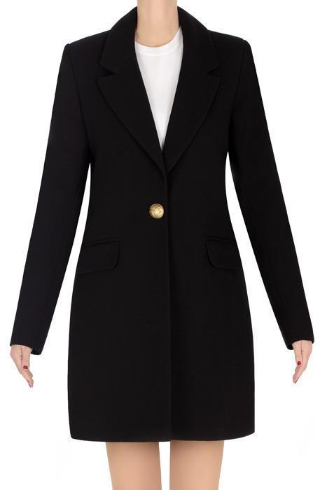 Elegancki płaszcz damski wiosenny czarny 3271
