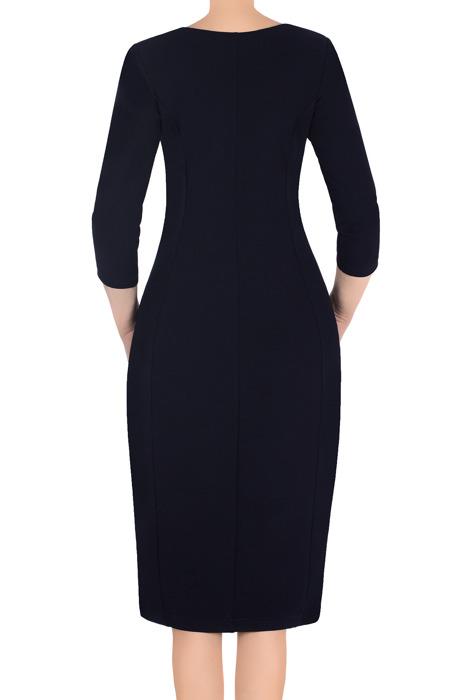 Klasyczna sukienka damska Lotos Ela granatowa