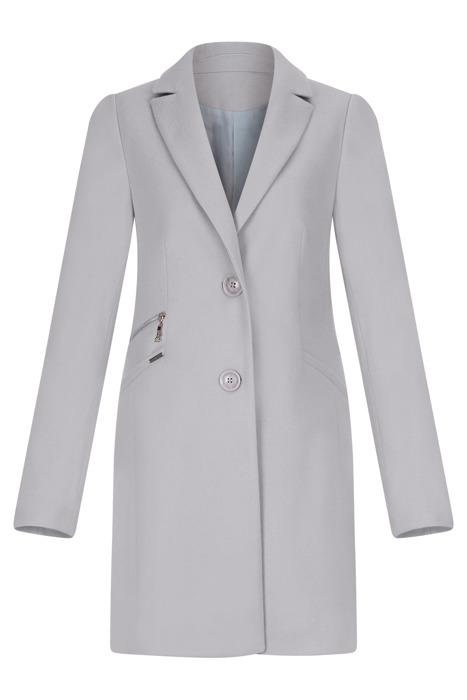 Klasyczny płaszcz damski Huna Jola szary