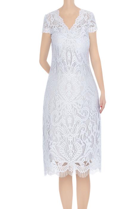 Koronkowa sukienka damska szara 3383