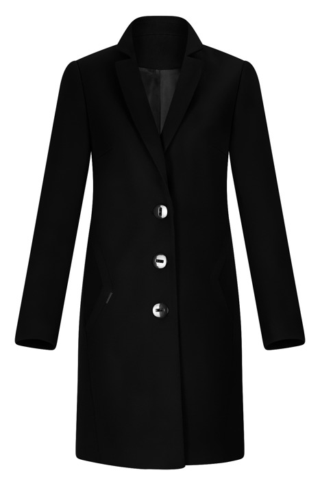 Płaszcz Huna Kinga czarny prosty fason