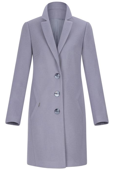 Płaszcz Huna Kinga niebieskofioletowy prosty fason