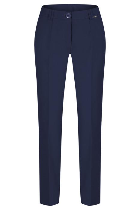Spodnie damskie Hela granatowe rozciągliwe wysokie w stanie długość 7/8