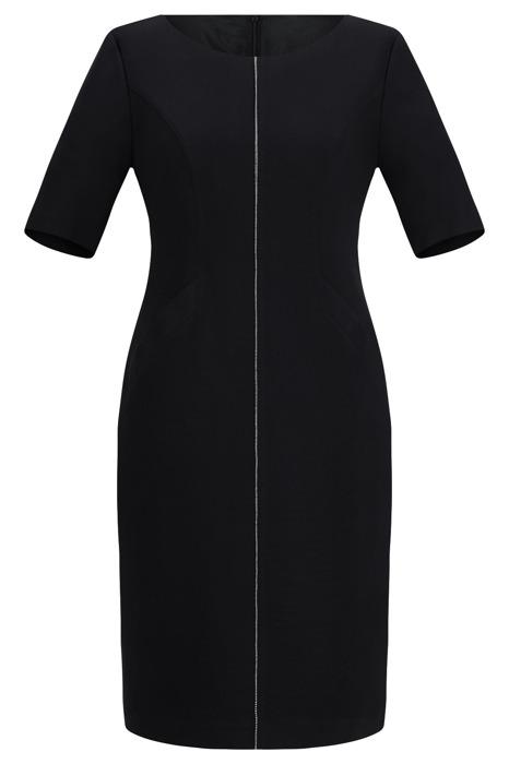 Sukienka Dagon 2077 czarna z ozdobną imitacją suwaka