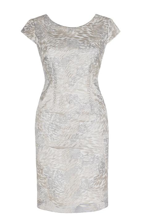 Sukienka Dagon 2208 srebrno-złota