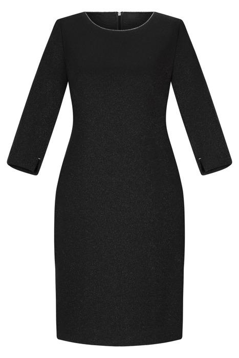 Sukienka Dagon 2453 czarna ze srebrną nitką