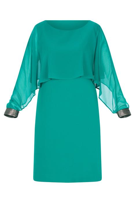 Sukienka Dagon 2540 zielona prosty fason