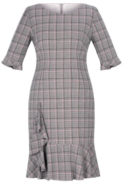 Sukienka Dagon 2570 w kratkę z falbaną