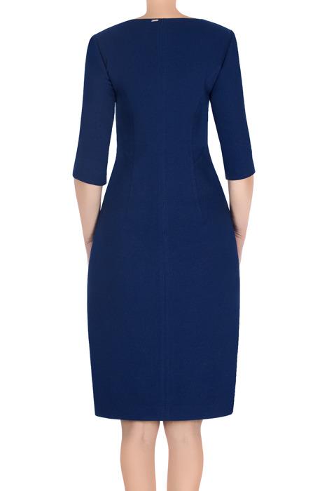 Sukienka Dagon 2737 chabrowa z aplikacją imitującą suwak