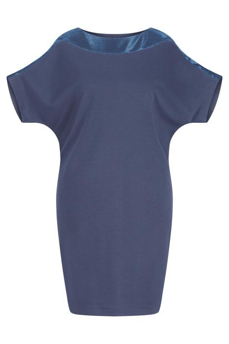 Sukienka Kasia I granatowa z błyszczącym zdobieniem