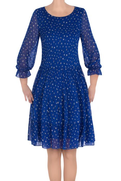 Sukienka Pola chabrowa w drobne kwiatki