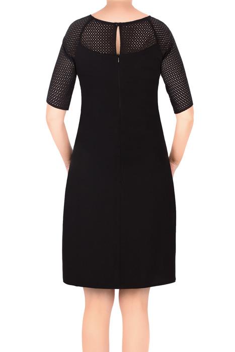 Sukienka Trynite TK-24B czarna na krótki rękaw