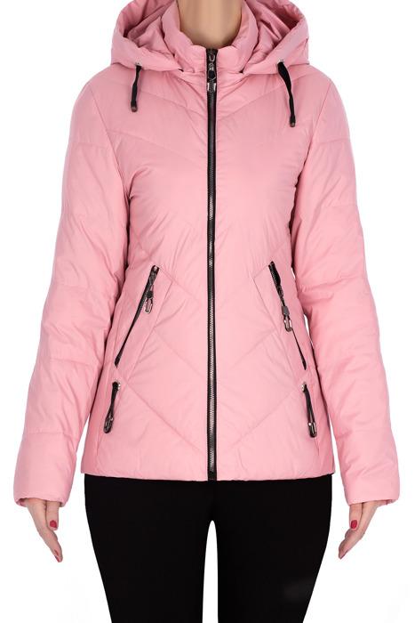 Wiosenna, pikowana kurtka różowa 3171