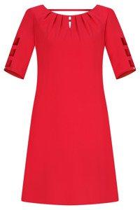 Sukienka Trynite TK-15 czerwona trapezowa